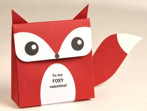 Giấy Thuận An   Hộp quà độc đáo hình con cáo từ giấy mỹ thuật