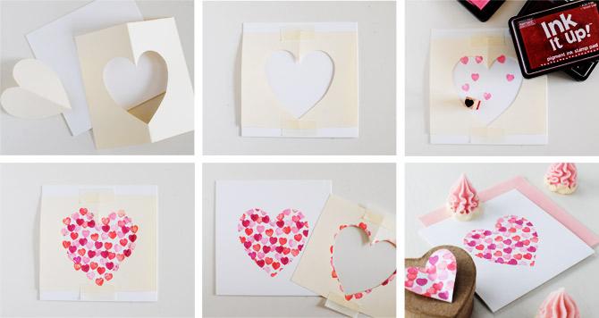 Giấy Thuận An | Thiệp giấy mỹ thuật đóng dấu trái tim