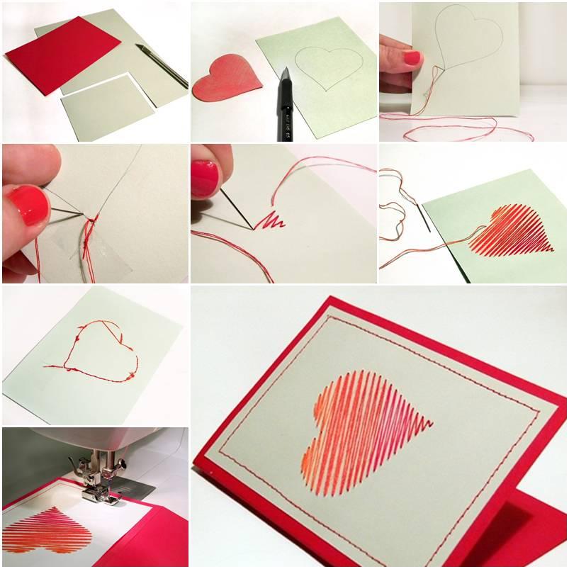 Giấy Thuận An | Thiệp giấy mỹ thuật khâu chỉ hình trái tim